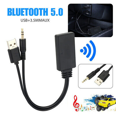 $9.55 • Buy Bluetooth 5.0 Receiver Adapter USB + 3.5mm Jack Stereo Audio For Car AUX Speaker