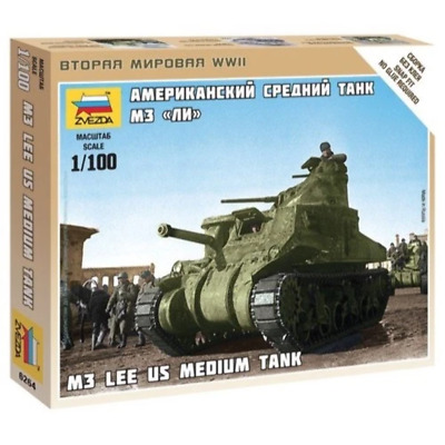 AU8.99 • Buy Zvezda 6264 1/100 M3 Lee US Medium Tank Brand New