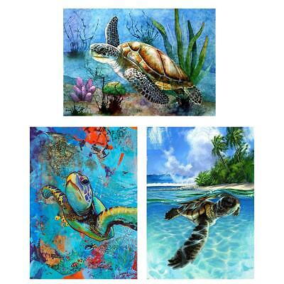 AU14.29 • Buy 5D DIY Full Drill Square Diamond Painting Sea Turtle Embroidery Mosaic Craft Kit
