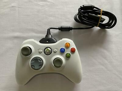 AU34.50 • Buy Microsoft Xbox 360 Controller With Charging Cable White
