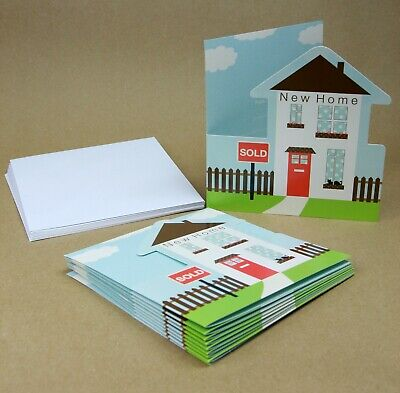 New Home Announcement Cards - 1 PACK 10 With Envelopes (My New Address) • 1.99£