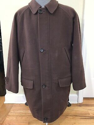 $114.97 • Buy Burberry London Mens Brown Wool/Cashmere Paolo Car Coat Size Large