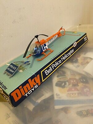 DINKY TOYS MODEL No.732 BELL  POLICE   HELICOPTER Plastic Casing Perished Rare • 22.49£