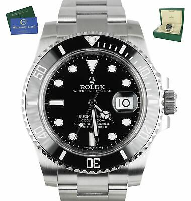 $ CDN13911.77 • Buy MINT 2019 Rolex Submariner Date 116610LN Stainless Black Ceramic 40mm Dive Watch