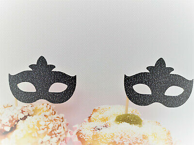 £5 • Buy Masquerade Mask Cupcake Toppers, Theatre, Masquerade Ball, Party Decorations