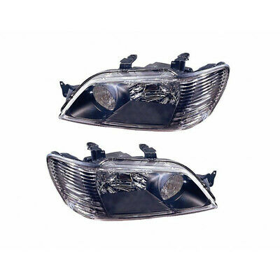 $195.14 • Buy MI2505110 Fits 2002-2003 Mitsubishi Lancer Headlight Perf. Pair Black Bezel