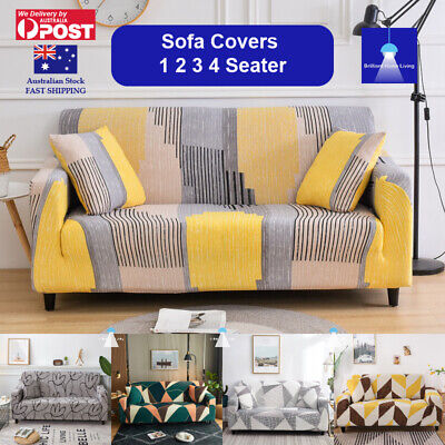 AU21.99 • Buy Sofa Cover Couch Covers 1 2 3 4 Seater Lounge Slipcover Protector Stretch AU