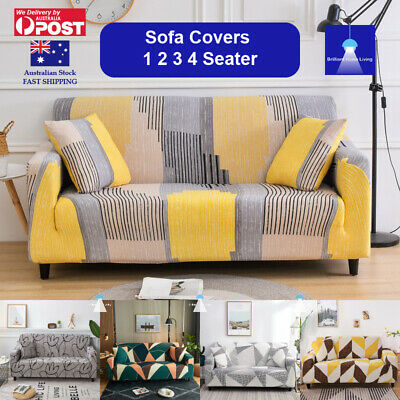 AU21.99 • Buy Sofa Cover Couch Covers 1 2 3 Seater Lounge Slipcover Protector Stretch AU Stock