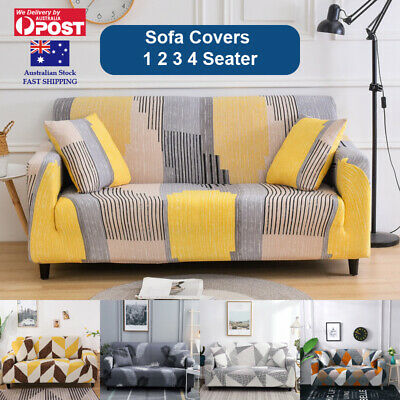 AU25.99 • Buy Sofa Cover Couch Covers 1 2 3 Seater Lounge Slipcover Protector Stretch AU Stock