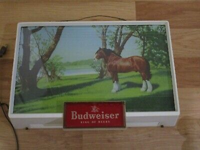 $ CDN285.88 • Buy 1950's Budweiser Clydesdale Lighted Light Up Beer Sign Very Nice Condition