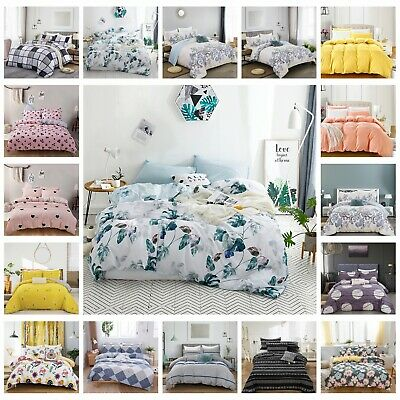 AU41.58 • Buy 100% Pure Cotton Bedding 2021 New All Size Bed Linen Doona Quilt Duvet Cover Set