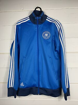 Mens Adidas Track Top Jacket Deutscher Fussball Bund Germany Blue Size Small • 32£