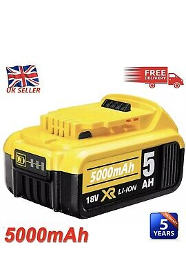 For DeWalt DCB184 18V 5.0Ah Li-ion XR Slide Battery DCB182 DCB180 DCD785 DCF885 • 26.99£