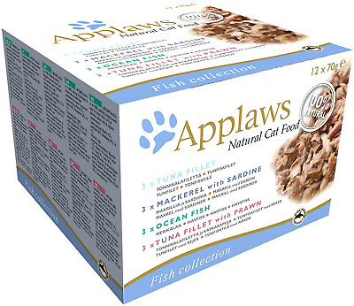 £12.99 • Buy Applaws Wet Cat Food, Multipack Fish Selection In Broth, 12 X 70g