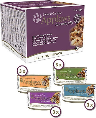 Applaws Natural Wet Cat Food, Multipack Chicken And Fish Selection In Jelly, 70 • 12.99£