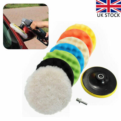 9X Car Waxing Polishing Buffing Sponge Pads 6 Inch With Hook & Loop Backing Pad • 10£
