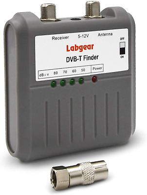 Labgear 27866R DVB T Signal Strength Finder Freeview HD TV Aerial Meter Tester • 12.89£