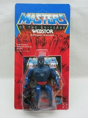 $725 • Buy MOTU,VINTAGE,WEBSTOR,CLEAR,Masters Of The Universe,MOC,sealed,Unpunched,He-Man