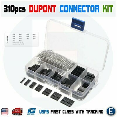 AU9.50 • Buy 310pcs Set Dupont Wire Jumper Pin Header Connector Housing Kit Male Female Pin