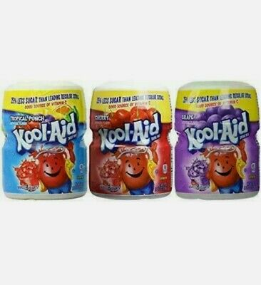 (3) Kool-Aid Drink Mix Pack - Flavors: Tropical Punch, Cherry & Grape  • 20.25£