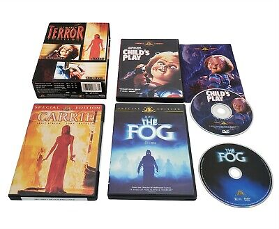 Ultimate Terror Thrillogy Child's Play, Carrie & The Fog Special Edition DVD Set • 14.30£