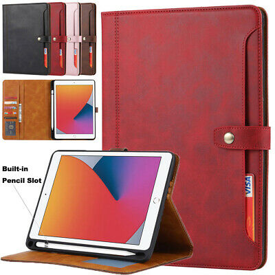 AU23.18 • Buy For Apple IPad Shockproof Leather Stand Card Slots Case Cover With Pencil Holder