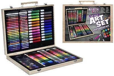 Kreative Kids  Art Set Colour Pencils Paint Crayons Oil Pastels Marker Pens  • 9.98£