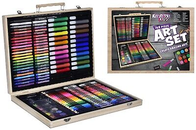 Kreative Kids  Art Set Colour Pencils Paint Crayons Oil Pastels Marker Pens  • 5.99£