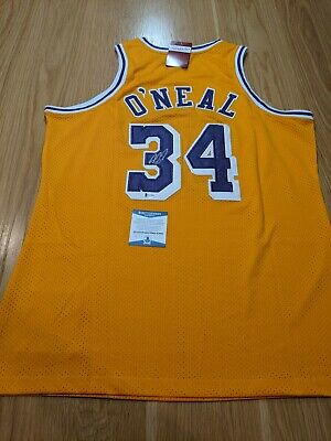 AU920 • Buy SHAQUILLE O'NEAL - Los Angeles Lakers Signed Jersey With COA