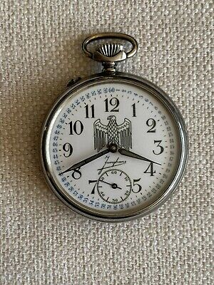 Antique Military Pocket Watch Junghans Wwii • 324.10£