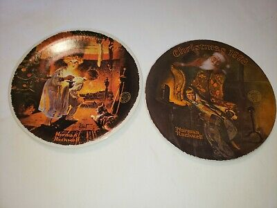 $ CDN7.28 • Buy VINTAGE Knowles Norman Rockwell Christmas Theme Plates