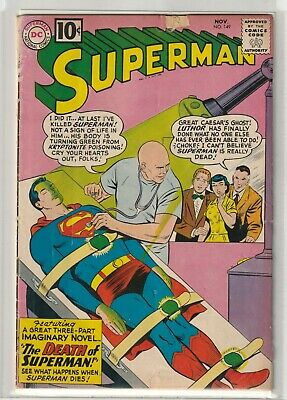 £34.95 • Buy Superman # 149 Very Good [Scarce DC 10 Cent Issue] Death Of Superman