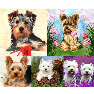 AU12.79 • Buy 5D Full Round Drill Diamond Painting Puppy Dog Diy Embroidery Cross Stitch Decor