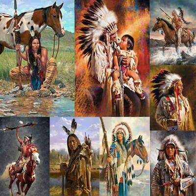 AU13.39 • Buy 5D DIY Full Drill Diamond Painting Indian Cross Stitch Craft Kits Home Wall Arts