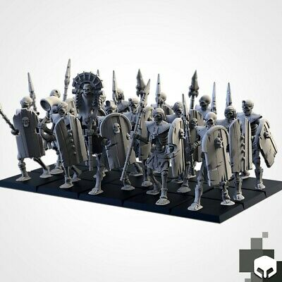 Armies Of The Sand : Sand Skeleton Formation  Tomb Royal Proxy 3D Resin Printed • 12£