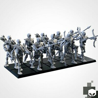 Armies Of The Sand : Sand Skeleton Formation Tomb Royalty Proxy 3D Resin 2 • 12£