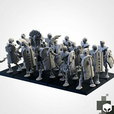 Armies Of The Sand : Sand Skeleton Formation Tomb Royal Proxy 3D Resin Printed 3 • 12£