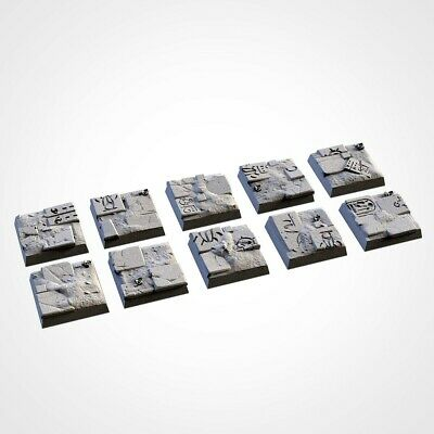Armies Of The Sand : 20mm Square Bases  Tomb Royalty Proxy 3D Resin Printed • 4.50£