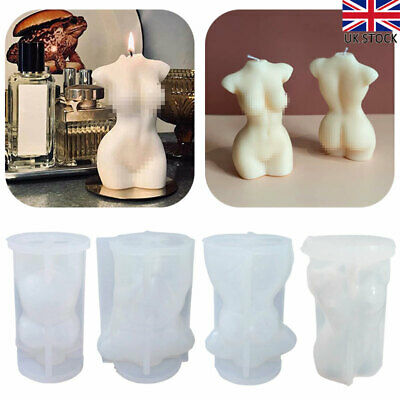 DIY Human Body Silicone Candle Moulds Perfume Candle Making Wax Soap Crafts UK • 8.29£