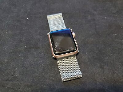 $ CDN127.16 • Buy Apple Watch 42mm Stainless Steel Case Stainless Steel Milanese Loop 7000 Series