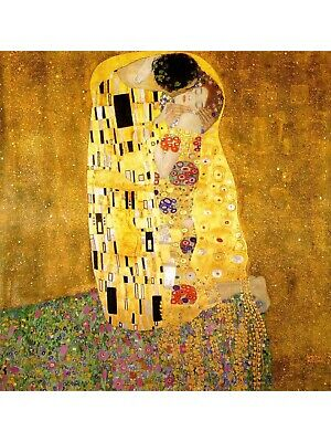$ CDN69.93 • Buy Wooden Jigsaw Puzzle  The Kiss  By Gustav Klimt, Whimsy Details. NEW!