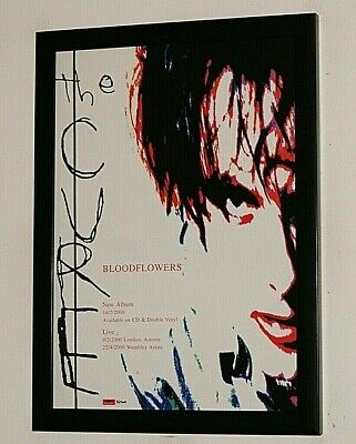 £12.99 • Buy THE CURE Framed A4 2000 ` Bloodflowers ` ALBUM Band Original Promo ART Poster