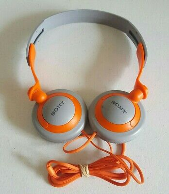 AU34 • Buy Sony Vintage MDR-XB200 Extra Bass (XB) Headphones Orange