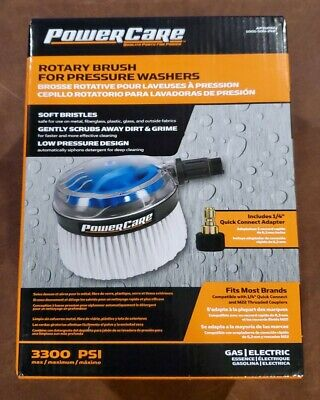 NEW Power Care AP31092 Rotary Brush For Pressure Washers 3300 PSI Gas/Electric • 18.44£