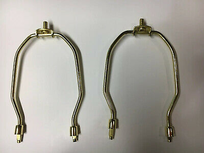 2 Pcs Pair Lamp Harp Holder 6.5  Inch Brass Plated For Table And Floor Lamps • 9.40£