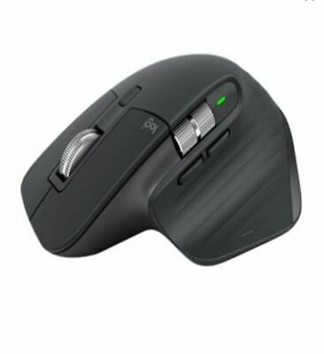 AU192.78 • Buy Logitech MX Master 3S Black Wireless Bluetooth Mouse 4000 DPI 7 Buttons Gesture