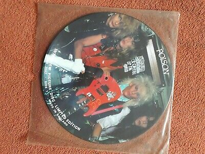 "Poison - Limited Edition Interview Picture Disc 12"" Vinyl • 10£"