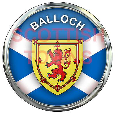 BALLOCH Car Truck Motorcycle Sticker SCOTLAND Scottish Highlands Decal Badge • 2.50£