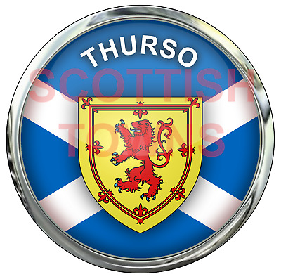 THURSO Car Truck Motorcycle Sticker SCOTLAND Scottish Highlands Decal  • 2.50£