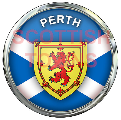 PERTH Car Truck Motorcycle Sticker SCOTLAND Scottish Highlands Decal  • 2.50£